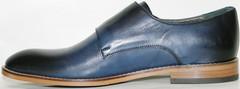 Классические мужские кожаные. Туфли монки Luciano Bellini Blue