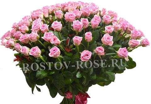 Букет из 101 местной розы сорта Аква