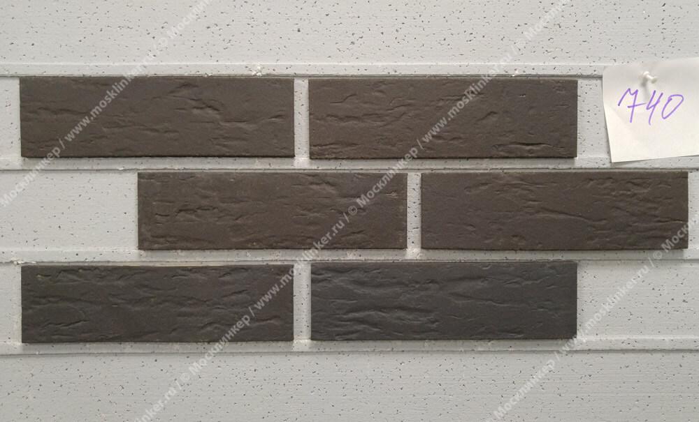 Feldhaus Klinker - R740NF9, Classic Anthracit Senso, 240x9x71 - Клинкерная плитка для фасада и внутренней отделки