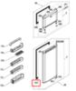 Уплотнитель двери холодильной камеры для холодильника Beko (Беко) - 4546860200, 4546863000