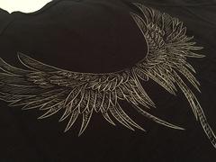 Футболка Крылья, цвет черный