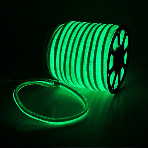 Гибкий неон 15*25 мм, светодиодный | Зеленый - 50м