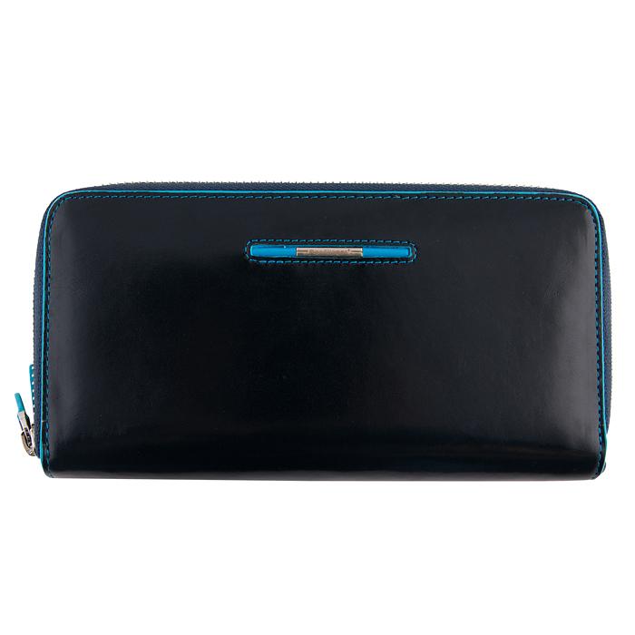 Женский кожаный кошелек синий Dor.Flinger  00031-624 blue DF большого размера