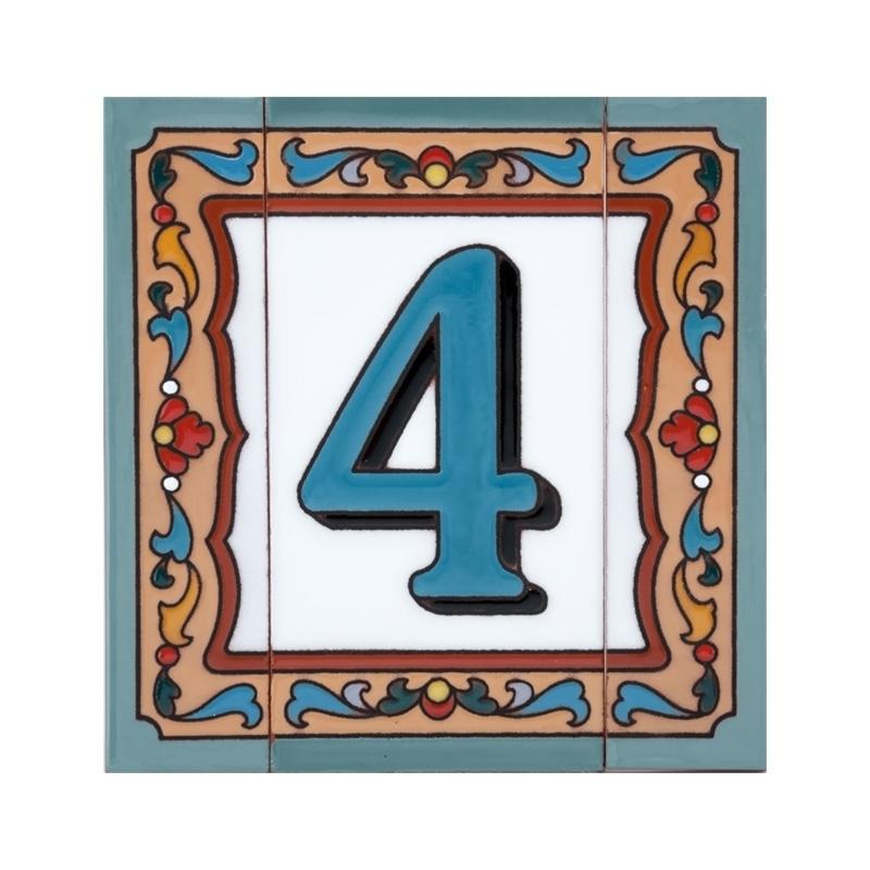 Керамическая табличка №4 с бордюром