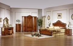 """Спальня """" Виктория"""" (Кровать 180*200 - 2 тумбы прикров - туал. столик) —  Темный орех (Виктория 3)"""