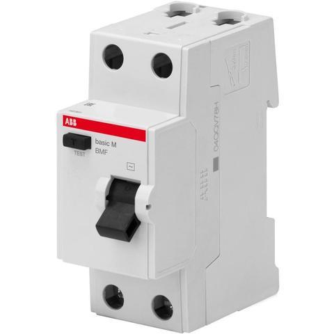 Дифф. выключатель тока УЗО 2-полюсный 25 А, тип AC (перемен.), 4,5 кА BMF42225. ABB. 2CSF602042R2250