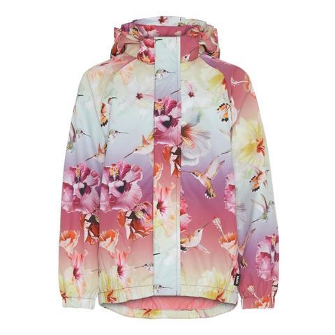 Molo Waiton Hibiscus Rainbow куртка - ветровка для девочки