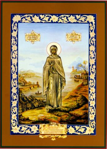Икона святая Светлана (Фотиния) на дереве на левкасе мастерская Иконный Дом