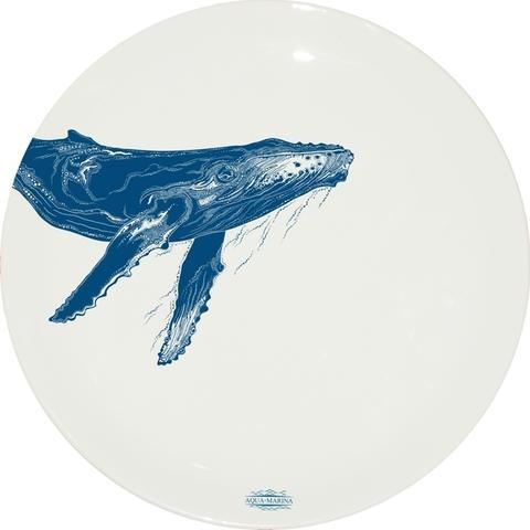 Большая тарелка с горбатым китом