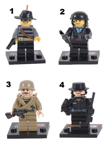 Minifigures SWAT Police Counterterrorism Blocks Building 01