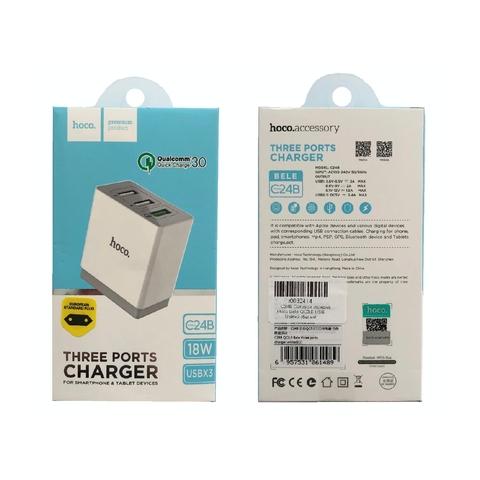 Купить сетевое зарядное устройство Hoco C24B