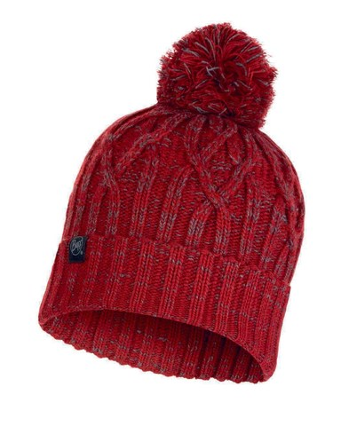 Шапка вязаная с флисом Buff Hat Knitted Polar Idun Red