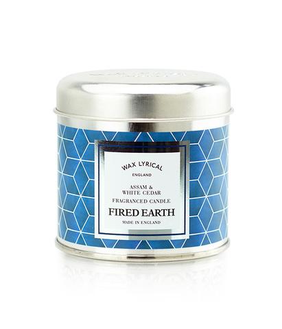 Свеча ароматическая в металле Ассамский чай и белый кедр, Wax Lyrical