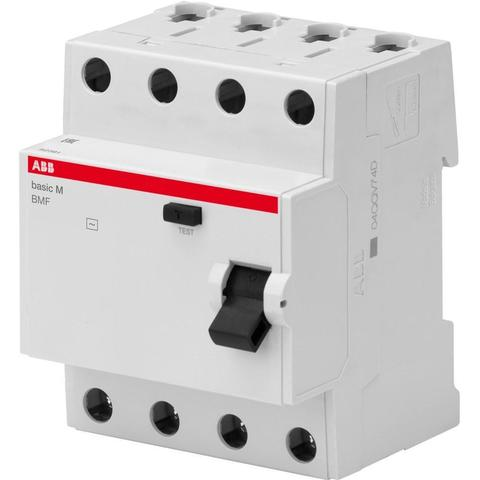 Дифф. выключатель тока УЗО 4-полюсный 40 А, тип AC (перемен.), 4,5 кА BMF43440. ABB. 2CSF604043R3400
