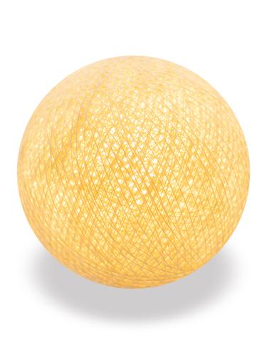 Хлопковый шарик желтая пастель