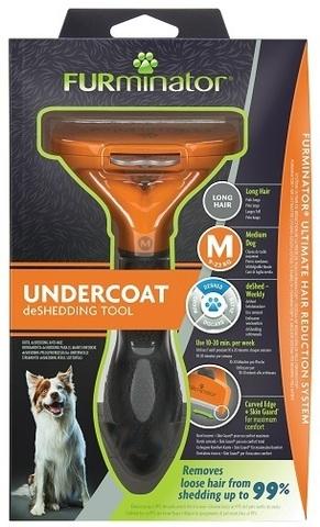 FURminator M фурминатор для средних собак с длинной шерстью