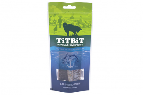 Titbit нарезка из трески для собак
