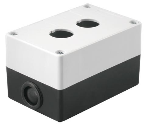 Корпус КП102 для кнопок 2места белый TDM