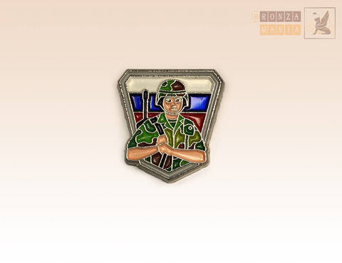значок Военный