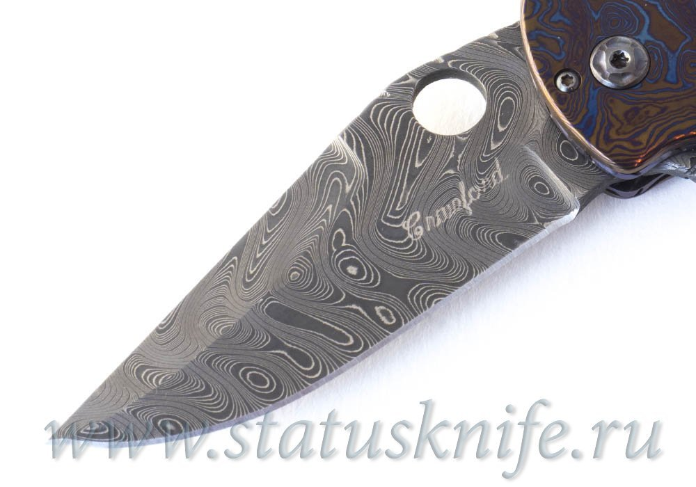 Нож Crawford Kasper Gentleman Full Dress Timascus - фотография