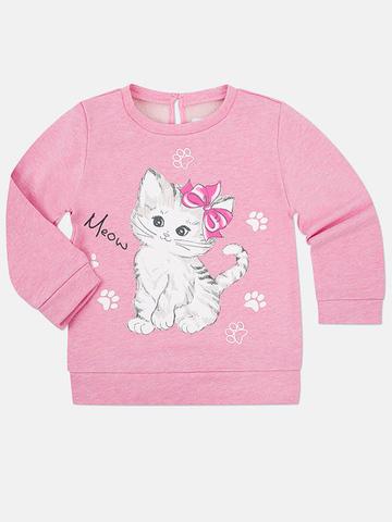 GAC010327 Джемпер для девочек, розовый меланж