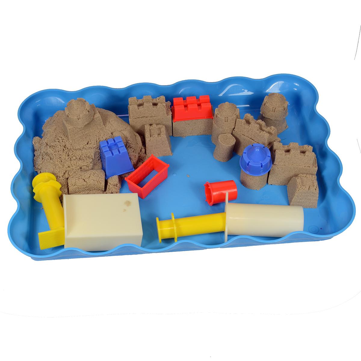 построй замок kinetic sand