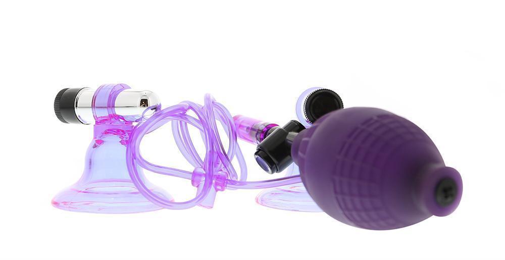 Помпы и стимуляторы для груди: Вакуумные стимуляторы на соски с вибрацией Hi-Beam
