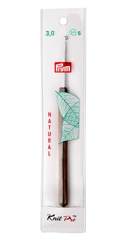 Крючок алюминиевый с деревянной ручкой 3 мм (арт 223502)