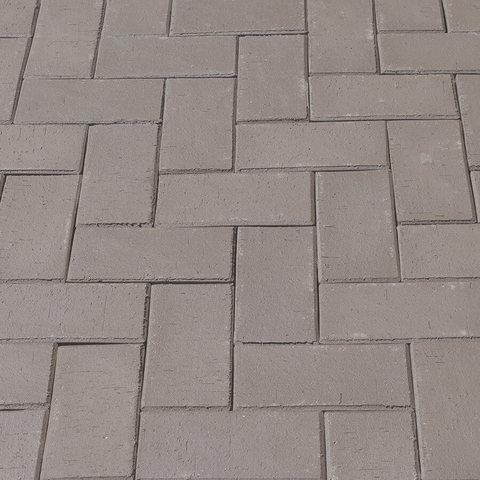 ЛСР, RAUF Design, Серый Стокгольм, 200x100x50 - Клинкерная тротуарная брусчатка