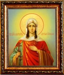 Маргарита (Марина) Антиохийская великомученица. Икона на холсте.