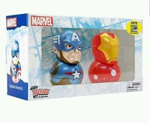 Marvel Captain America and Iron Man Original Mini's Rockerz 2016 San Diego Comic Con Exclusive and Limited Edition