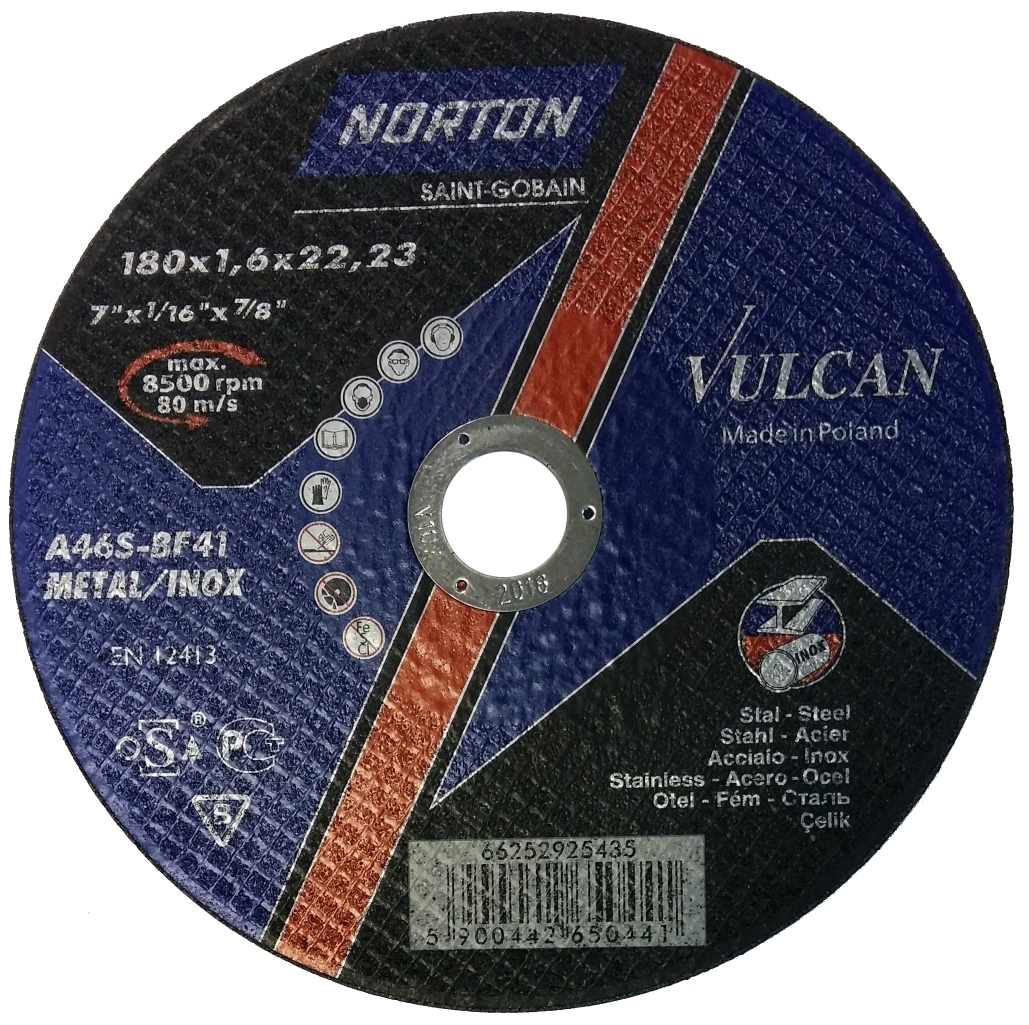 Отрезной круг NORTON 180х1,6х22,23