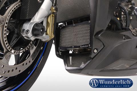 Защита масляного радиатора BMW S1000R/RR черный/серебро