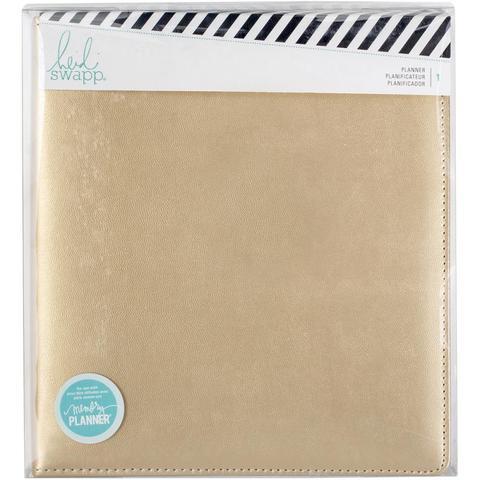 Ежедневник с наполнением  А5 Heidi Swapp Large Memory Planner -Gold
