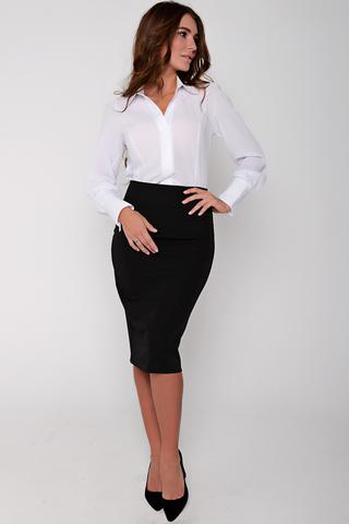 Неподвластный ни капризам моды, ни времени предмет женского гардероба. Будет смотреться эффектно как в составе строгого делового костюма, так и в соблазнительном вечернем образе. (Длина: 44,46,48 = 63см;  50=64см; 52=65см;) пояс с замком