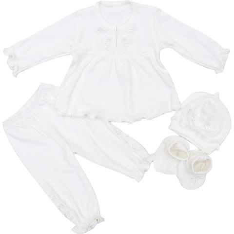 Комплект для хрещення КД4-4 дівчинці молочний