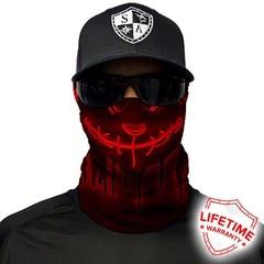 Бандана с черепом SA Neon Purge-Red