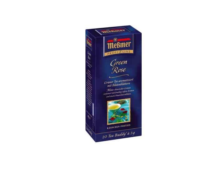 Чай зеленый в пакетиках Messmer Лепестки Розы, 20 пак/уп, 3 г