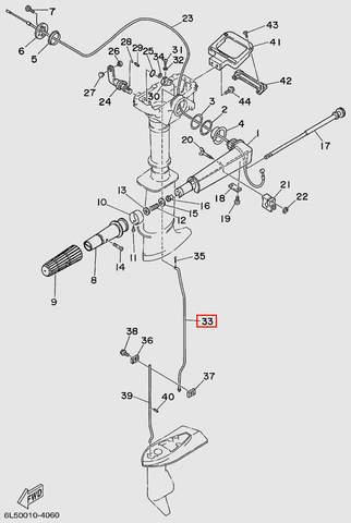 Тяга переключения передач верхняя для лодочного мотора T3 SEA-PRO (11-33)