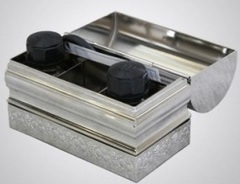 Ящик крестильный средний никелированный