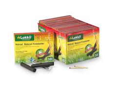 Эко-угольный брусок саморозжигающийся Lokkii 10 штук в упаковке