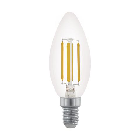 Лампа LED филаментная диммир. прозрачная Eglo CLEAR LM-LED-E14 3,5W 350Lm 2700K C35 11704