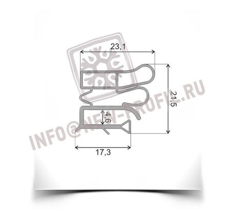 Уплотнитель 113*56 см для холодильника Позис Electrofrost 141 (холодильная камера) Профиль 012
