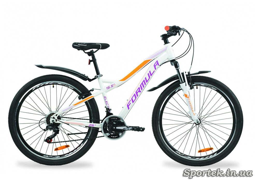 Горный женский велосипед Formula Electra - бело-фиолетовый с оранжевым