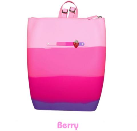 Маленький силиконовый рюкзак на молнии цвет Berry Gummy Bags