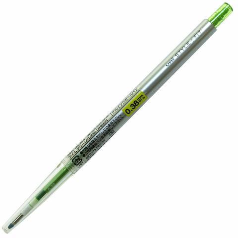 Гелевая ручка 0,38 мм Uni Style Fit - Lime Green - жёлто-зеленые чернила