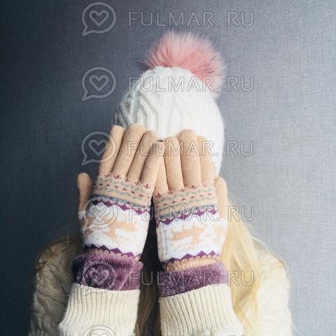 Перчатки с оленями