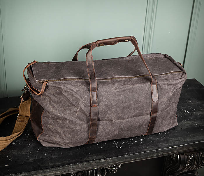BAG499-1 Мужская дорожная сумка из ткани с ремнем фото 03