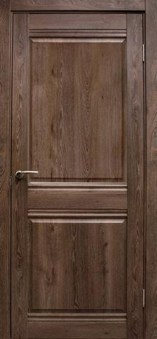 Дверь Эколайт Дорс Омега, цвет дуб шоколадный, глухая