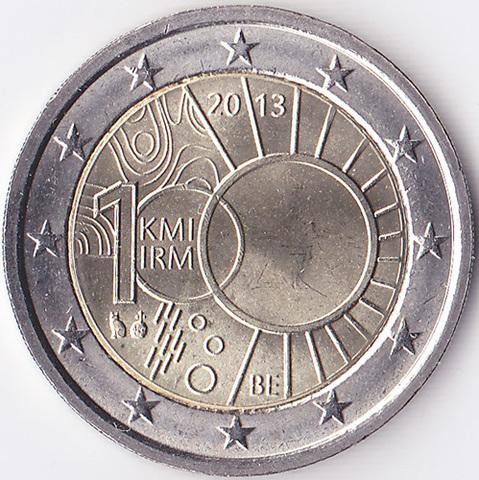 Бельгия 2 евро 2013 Метеорологический институт